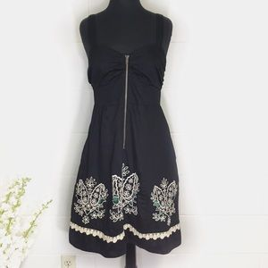 Anthropologie Floreat Black Eyelet Dress